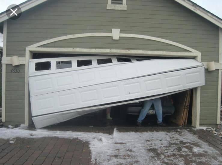 Broken garage door Nanaimo